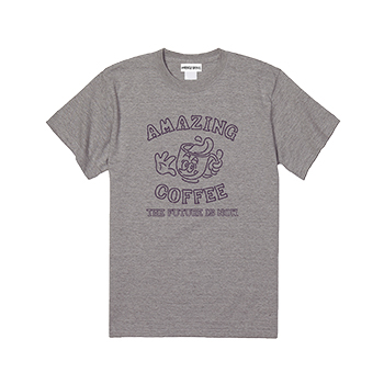 HONESTBOY×AMAZING COFFEE Tシャツ〈グレー〉